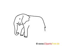 Weitermal Druckvorlage Elefant