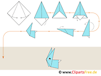Anleitung Origami Tiere Hase