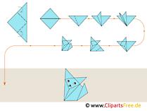 Origami Fuchs falten Anleitung