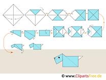 Origami Hund für Anfänger