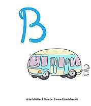 B - ABC-Buchstabentafeln ausdrucken