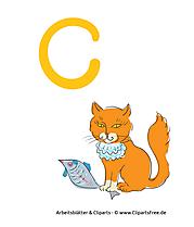 C - Alphabet lernen Buchstaben-Lernvorlagen