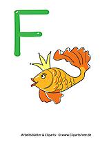 F - einzelne Buchstaben zum Ausdrucken