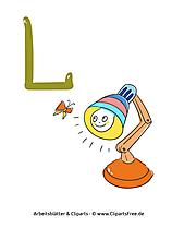 L - Buchstaben lernen Arbeitsblätter kostenlos