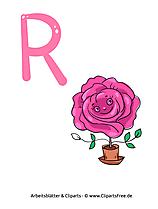R - ABC Buchstaben zum Ausdrucken