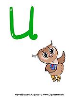 U - Druckbuchstaben ABC lernen in Grundschule