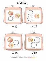 Addieren Euromünzen Geld Unterrichtsmaterial für Grundschule