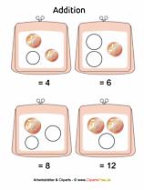 Druckvorlage für Mathematik in der 1. Klasse in der Grundschule