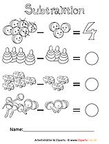 Matheaufgaben Minus für Grundschule