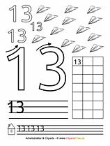 13 - Zahlen ausdrucken DIN A4