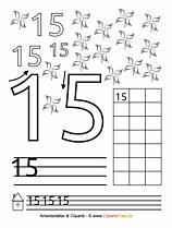 15 - Kostenlose Druckvorlage Zahlen lernen
