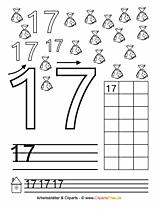 17 - Druckvorlage Zahlen schreiben