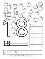 18 - Zählen lernen Übungsblätter zum Ausdrucken