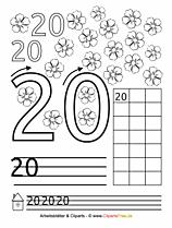 20 - Zahlen lernen zählen Übungsblätter ausdrucken