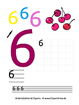 6 - Zahlen 1-10 schreiben lernen