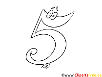 5 numbers coloring pages and coloring pages to count