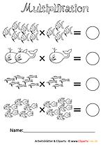 Multiplikation Arbeitsblätter zum Drucken