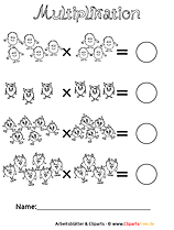 Übungsblätter Grundschule Schriftliche Multiplikation