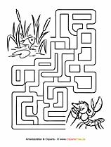 Labyrinth Vorlage für Kinder zum Ausdrucken