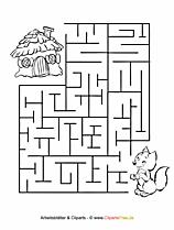 Rätsel für Kinder - Labyrinthe, Irrgarten, Malvorlagen