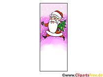Lesezeichen Vorlage Weihnachten zum Ausdrucken