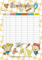 Stundenplan Vorlage PDF für Grundschule