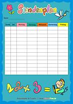 Vorlagen für Schule zum Ausdrucken - Stundenpläne