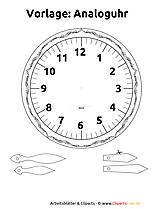 時計と時間のワークシートとイラスト