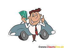 Auto-Finanzierung Clipart, Bild, Grafik, Illustration