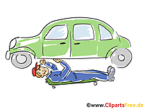Auto selbst reparieren Clipart, Bild, Grafik, Cartoon, Illustration gratis