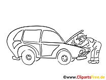 Auto service illustraties, grafisch, pic, cartoon, komisch