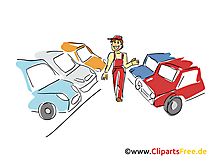 Autohandel drijven clipart, afbeelding, grafisch, tekenfilm, gratis illustratie