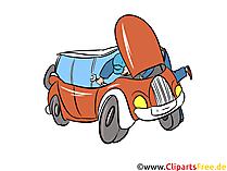 Autoanalyse op snelwegbeeld, Illustratie, Clipart, Cartoon gratis