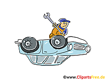 Autopanne Clipart, Bild, Grafik, Cartoon, Illustration gratis