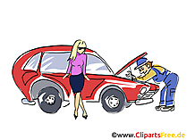 Autoreparatur, Kfz-Reparatur Clipart, Bild, Grafik, Cartoon, Illustration gratis