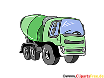 Betonmischer Illustration, Bild, Clipart Autos