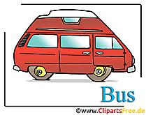 無料のバス漫画クリップアート