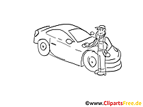 Car diagnostic clip art black and white, graphic, pic free