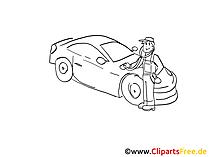 Auto diagnostische illustraties zwart en wit, grafisch, foto vrij