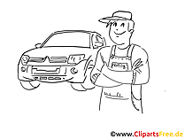 Car maintenance and repair clip art, graphic, pic, cartoon, comic free