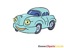 漫画車のクリップアート無料