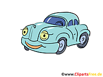 Cartoon auto illustraties gratis