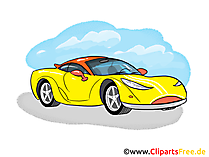クリップアートスポーツカー