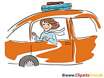 Vrouw rijdt auto clipart, afbeelding, grafisch, tekenfilm, illustratie gratis