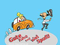 Führerschein Glückwunschkarte
