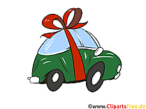 Geschenk Auto Clipart, Bild, Grafik, Illustration