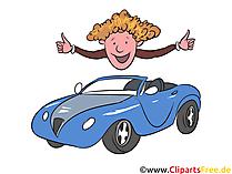 Glücklicher Autobeitzer Clipart, Bild, Grafik, Illustration