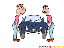 Kaputtes Auto Bild, Illustration, Clipart, Cartoon gratis