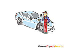 Kfz-Diagnose Clipart, Bild, Grafik, Cartoon, Illustration gratis