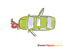 Kfz-Panne, Reparatur Clipart, Bild, Grafik, Cartoon, Illustration gratis